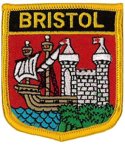Bristol (Shield) Embroidered Patch 6cm X 7cm (2 1/2 by Klicnow