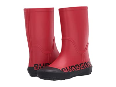 Burberry Kids Hurston RUBB Weatherboots (Toddler/Little Kid) (Bright Red) Kid