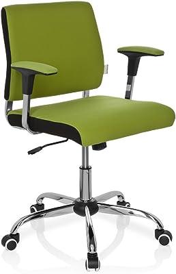 hjh OFFICE 719140 silla de oficina AVIDA tejido verde, con apoyabrazos, ajuste de altura