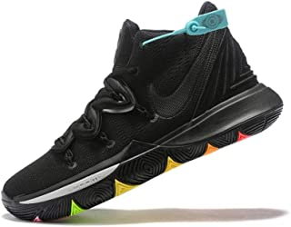 Men's Zoom Kyrie 5 Built-in Air Cushion Basketball Shoes Black/Colorful