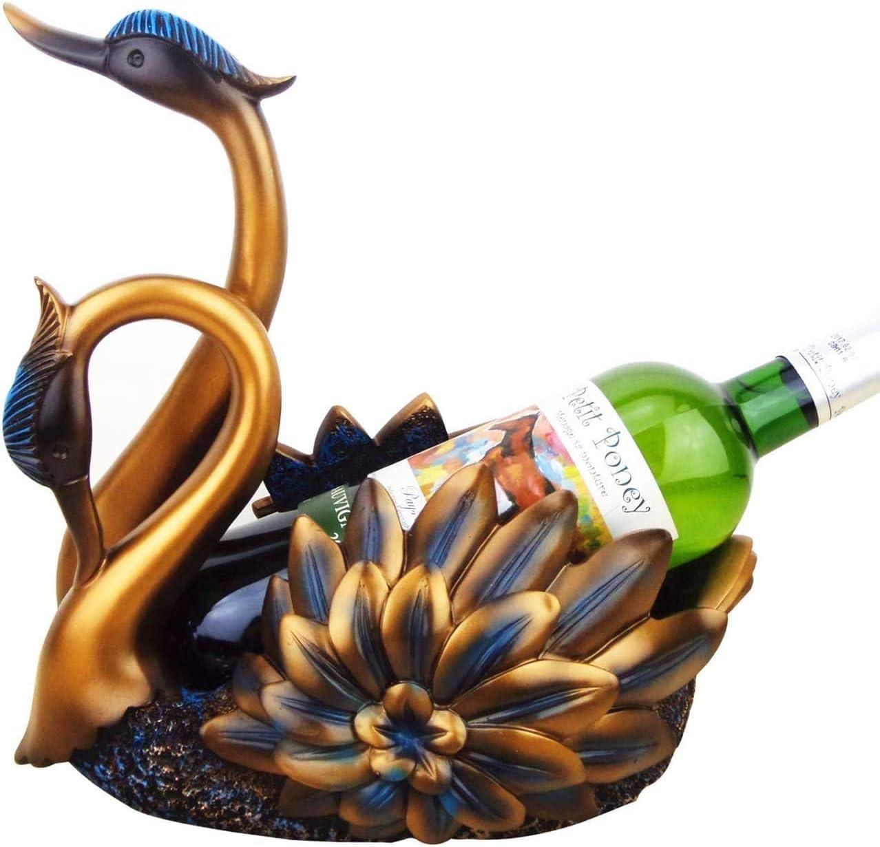 GIOAMH Double Swan Wine Kansas City Mall Rack Por Bronze Continental Desktop Home Max 47% OFF