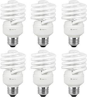 Compact Fluorescent Light Bulb T2 Spiral CFL, 5000k Daylight, 23W (100 Watt Equivalent), 1520 Lumens, E26 Medium Base, 120V, UL Listed (Pack of 6)