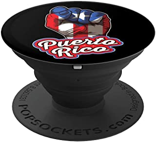Puerto Rican Pride   Raised Fist Boricua Flag PopSockets Grip and Stand for Phones and Tablets