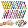 Giraffe - Slap Bracelets For Kids - Snap Bracelet Party Favors (50-Pack) by Giraffe Manufacturing
