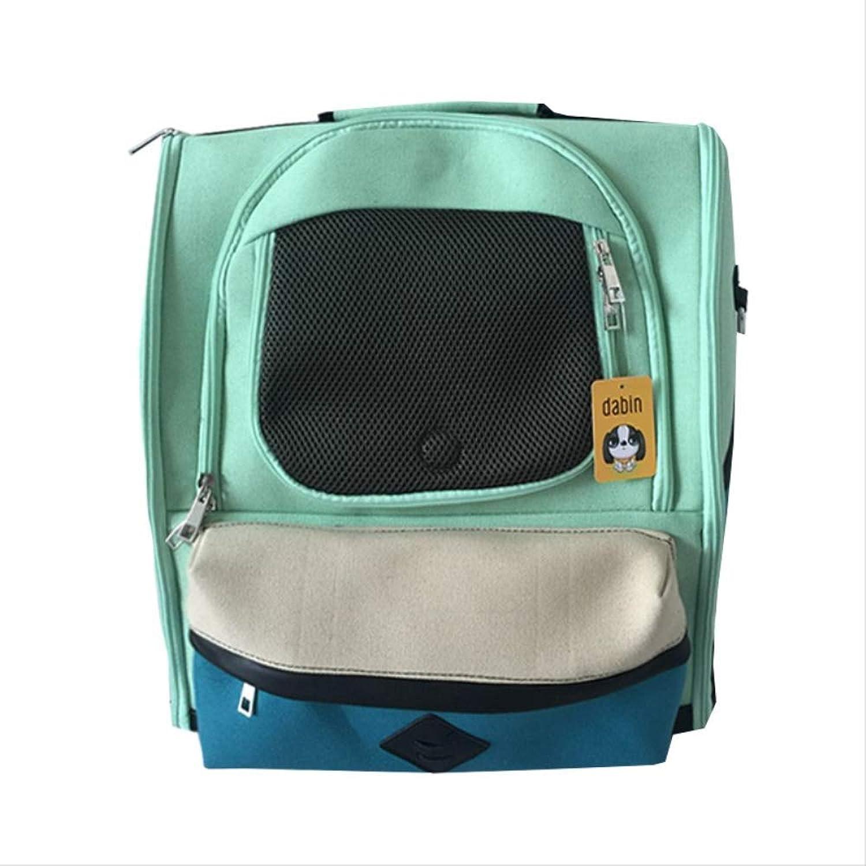 Balaballalla Fashion Double Shoulder Pet dog cat Chest pack Portable Travel Bag Front Bag 3 color supply M WHITE