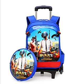 BKK& School Backpack Game Anime Boy Rolling Backpack School Travel with Small Shoulder Bag 2PCS 6