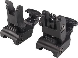 GVN Polymer Folding Tactical Flip up Sight Rear Front Sight Mount Set for Weaver / Picatinny Rails