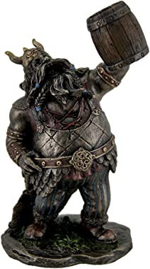Veronese Resin Statues Viking Warrior Toasting The Dead Statue Figurine 4 X 7 X 3.5 Inches Brown