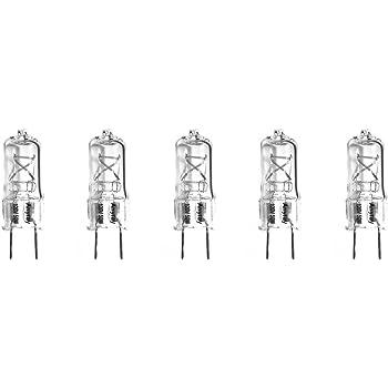 10 Pack 20 Watt T4 G8 Base 120 Volt 2500 Hour Clear Halogen Light bulb 20W G8S