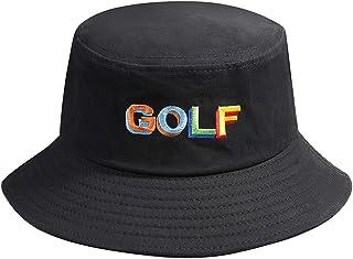 Bucket Hat Cotton Travel Beach Sun Hat Golf Embroidery Outdoor Cap Unisex