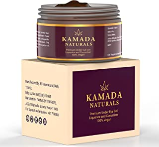 Kamada Naturals Under eye cream gel for dark circles, anti aging formula to reduce wrinkles, eye bags, puffiness with mois...