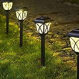 Solpex Solar Pathway Lights Outdoor, LED Solar Garden Lights, Waterproof Solar Landscape Lights for Lawn, Patio, Yard, Garden, Walkway. (6 Pack)