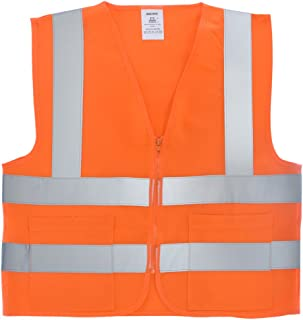 Neiko 53968A High Visibility SAFETY Vest with 2 Pockets, X-Large, Neon Orange