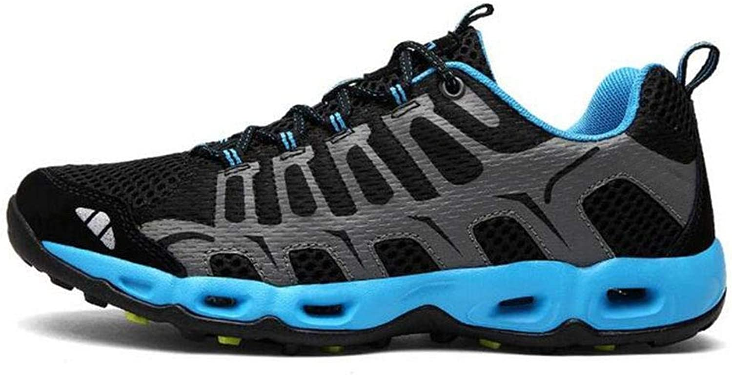 Oudan sportsOutdoor Hiking shoes Hiking shoes Shock Absorption Breathable Anti - Skid Wear (color   Sapphire, Size   39)