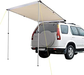 Yescom 1.4x2m UV50+ Car Side Awning Extension Roof Cover Top Pullout Tent Sun Shade Rack Shelter Camping Trailer Sand
