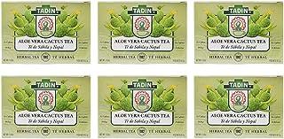 Tadin Tea Aloe Vera with Cactus, Natural Supplement, Te De Sabila y Nopal 24 Bags Pack of 6