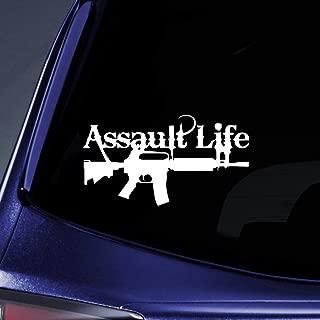 Laptop Stickers - Assault Life - Vinyl Decal for Car Window Bumper Cup Safe Decor Door Custom Sticker BT2863