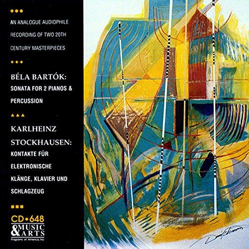 Bartok: Sonata for 2 Pianos & Percussion - Stockhausen: Kontakte (version for piano, percussion and 4-track tape), Work No. 12 1/2