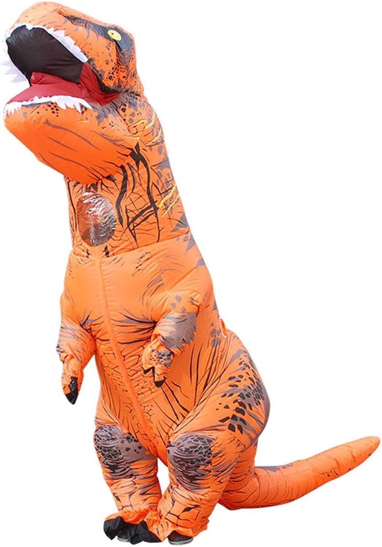YINGZU Costume da Dinosauro Gonfiabile Htuttioween Natale Vestire Abiti Diverdeenti Abiti in Maschera per Adulti Festa per Bambini Cosplay Festival della Birra (Includi 1 pz),arancia,Adult