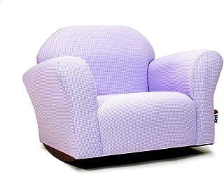 KEET Roundy Rocking Kid's Chair Gingham, Lavender