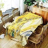 XXDD Mantel a Rayas de Moda Creativo Mantel con patrón de línea Colorida cómoda Cubierta de Mantel Impermeable A7 135x135cm