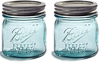 NEW! TWO Limited Collector's Edition - Half-Pint 8oz. Vintage Aqua/Blue BALL