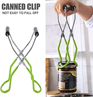 Upgraded Canning Jar Lifter Tongs, Wide Mouth Can Clip Jar Clip with Anti-slip Grip Handles, Canning Tool, Essential for A...