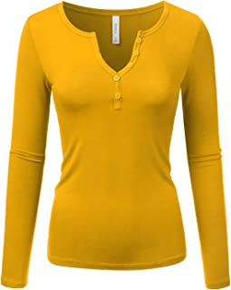Sexy Deep V-Neck Henley T-Shirt for Women with Plus Size