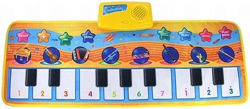 GZ Musikspielzeug-Klaviermatte, Musikinstrumentspielzeugnotenspieltastatur des Babys, Tragbare Bunte Musikkindermattenmatte,A,80  28 cm