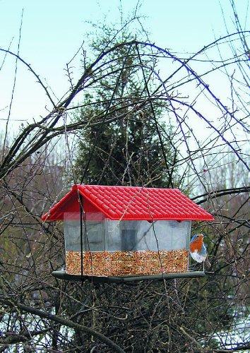 Unbekannt Vogelfutterhaus Kunststoff zum Hängen oder Pfahlmontage