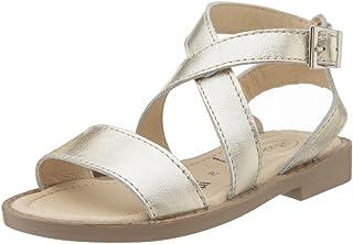 Girls Sandals CReditably Elegant Leather Kids Shoes Hook Party Low Heel Sandals for Girls