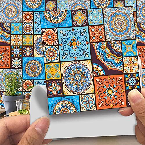 Azulejos Adhesivos Baño Cocina Bohemia 24 Vinilos Cocina Azulejos Vinilos Para Baños Losetas Vinilo para Paredes Suelo Vinilo Autoadhesivo para Cocina