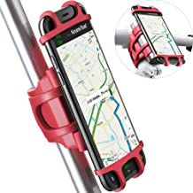 Bike Motorcycle Phone Mount, ANCwear 4-in-1 Portable Charger and Phone Holder, Adjustable Silicon Universal Fit Handlebars and Smart Phones Like iPhone Xs Max R X 8 Plus 7 Samsung