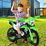 Kids Electric Motorcycle 6V Battery Powered Motorbike Ride On Car for Toddler Boys Girls Age 3 4 5 6 7 8 Riding Toys with Traning Wheels, Music, Spring Suspension, Headlight, and Simulated Exhaust