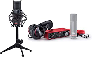 Focusrite SCARLETT 2I2 STUDIO 3rd Gen Interface+Mic+Headphones+Stand+Pop Filter