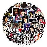 50Pcs Famous Musician Rock King Michael Jackson Punky Stickers Graffiti Waterproof Skateboard Suitcase Laptop Sticker Decals (Michael Jackson)