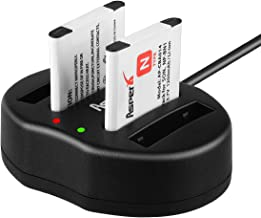 Asperx NP-BN1 Battery(2 Pack) and Charger Kit Compatible with Sony Cyber-Shot DSC-QX10 DSC-QX30 DSC-QX100 DSC-TF1 DSC-TX10 DSC-TX20 DSC-TX30 DSC-W530 DSC-W570 DSC-W650 DSC-W800 DSC-W830