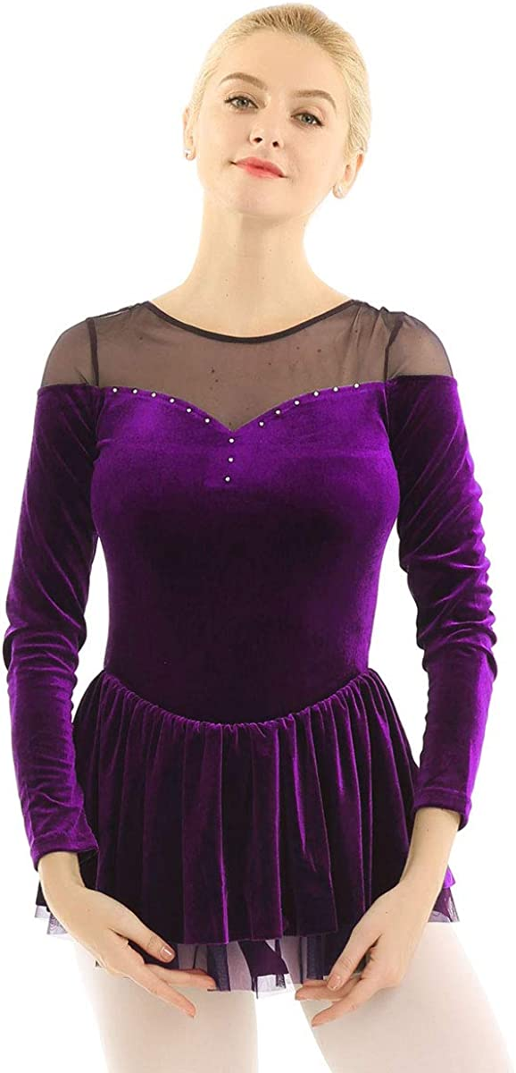 Agoky Women's Double Layer Mesh Velvet Danc Shoulder Max 75% OFF Safety and trust Sleeve Long