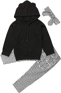 LIKEVER Felpa e Pantaloni con Volant a Maniche Lunghe Vestito Invernale per Bambine