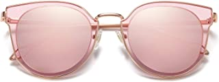 Fashion Round Polarized Sunglasses for Women UV400...