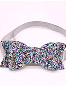 glitter pet bow ties in various designs cats and dogs collar bow tie