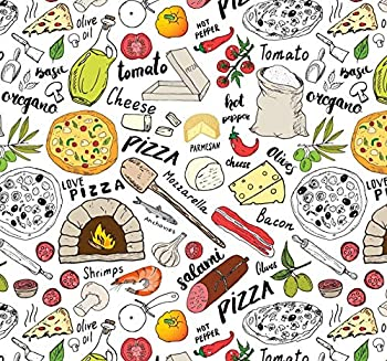 Pizza Gift Wrap Food Present Wrapping Paper Folded Flat 30 x 20 Inch 3 Sheets