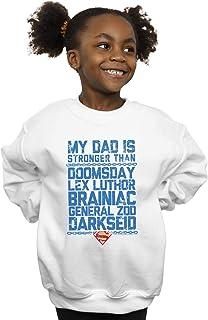 DC Comics Girls Superman My Dad Is Stronger Than Sweatshirt