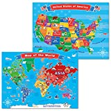 Best World Maps - World Map and United States Map for Kids,Wall Review