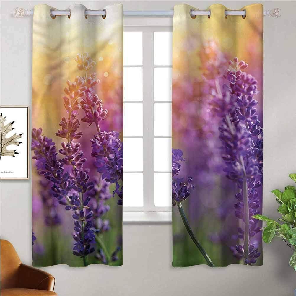 Jinguizi Window Curtain Kids Recommended P SALENEW very popular Gardening Lavender Scenic