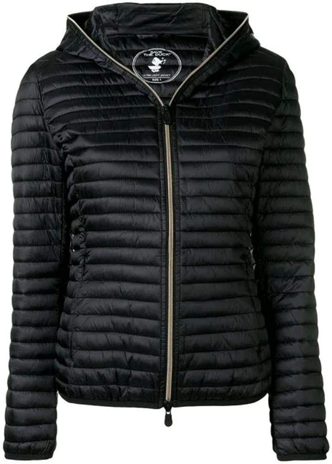 Save The Duck Women's D3362WIRIS800001 Black Polyester Down Jacket