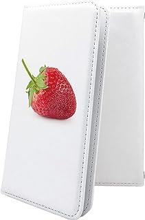 スマートフォンケース・Xperia J1 Compact D5788・互換 ケース 手帳型 イチゴ 果物 エクスペリア コンパクト 手帳型スマートフォンケース・食べ物 XperiaJ1 苺