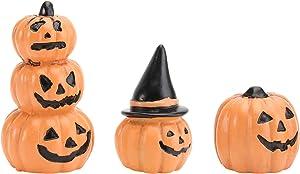 DOITOOL Halloween Miniature Pumpkin Figurines Ornaments, 3Pcs Resin Pumpkin Decorations for Halloween Favors Bag Fillers, Dollhouse Fairy Garden Accessories