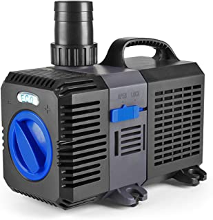 Best Flexzion Pond Pump Submersible 800/950/1200/1400/1850/2100/2650 GPH - Flow Inline Aquarium Fountain Waterfall Koi Fish Salt Fresh Water Filter with Set of Outlet Adapter Review