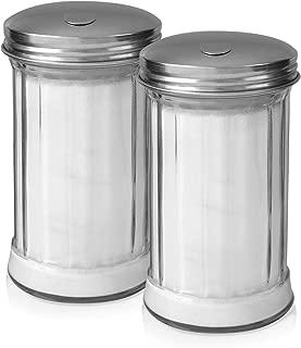 Klee Utensils Sugar Dispenser - Retro Style Glass Jar with Stainless Steel Side Cap Dishwasher Safe for Home & Restaurant Use … (2)